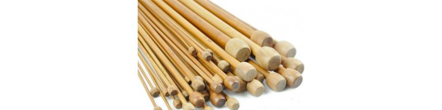 Bambusové a drevené pletacie ihlice