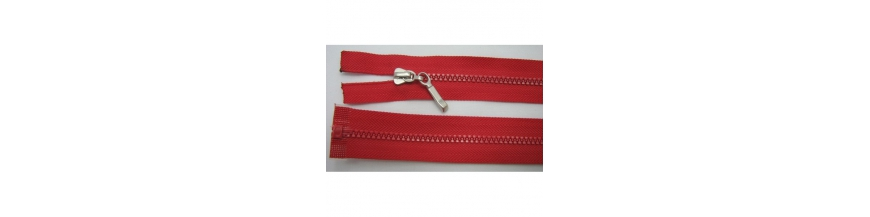 Zips kostenný deliteľný 3mm - dĺžka 55cm kovový bežec