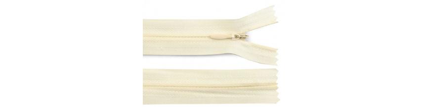 Zips krytý nedeliteľný Bavlnený 18cm