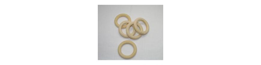 Krúžky na závesy a záclony,krúžky drevo,kruhy