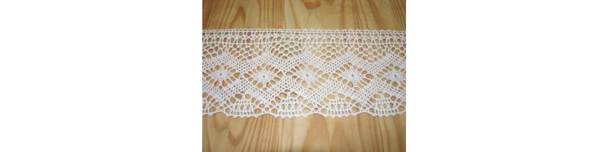 Krajka bavlna od 0,5cm -3cm