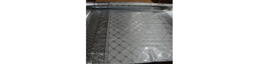 PVC Metalický podlepený obrus